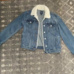 Gap denim and Sherpa collar jacket
